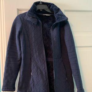 The North Face Women's Med blue fleece lined coat